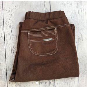 Vintage 70's brown Stretch pants women's